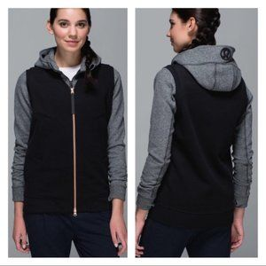 Lululemon Athletica Departure Vest Black Full Zip